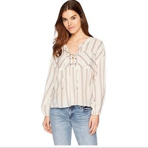 Anthropologie Splended Lace up Top
